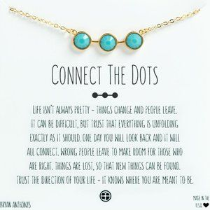 Bryan Anthony's Connect The Dots Teal Bar Necklace
